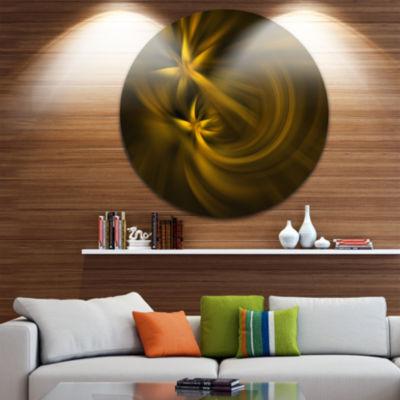 Design Art Play of Golden Stars Abstract Circle Metal Wall Art