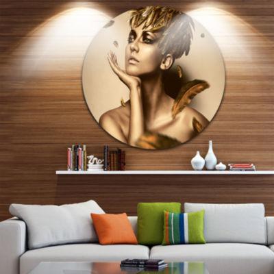 Design Art Brunette Photography Metal Wall Art