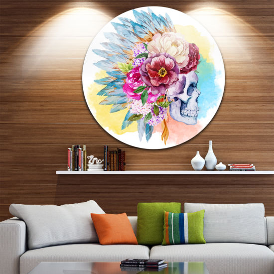 Designart Floral Metal Wall Art