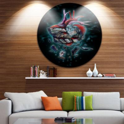 Designart Abstract Metal Wall Art