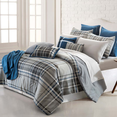 Pacific Coast Textiles 16-pc. Embellished Reversible Comforter Set