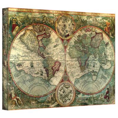 Brushstone Brushstone Treasure Map Gallery WrappedCanvas Wall Art