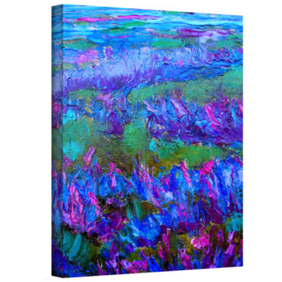 Brushstone Statice Flying Gallery Wrapped Canvas Wall Art