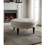 Isabelle Round Tufted Ottoman