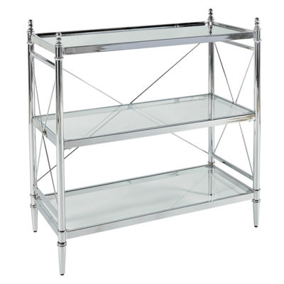 Pinnacle Chrome and Glass Bathroom Shelf