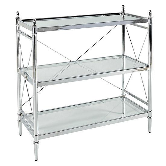 Pinnacle Chrome and Glass Bathroom Shelf