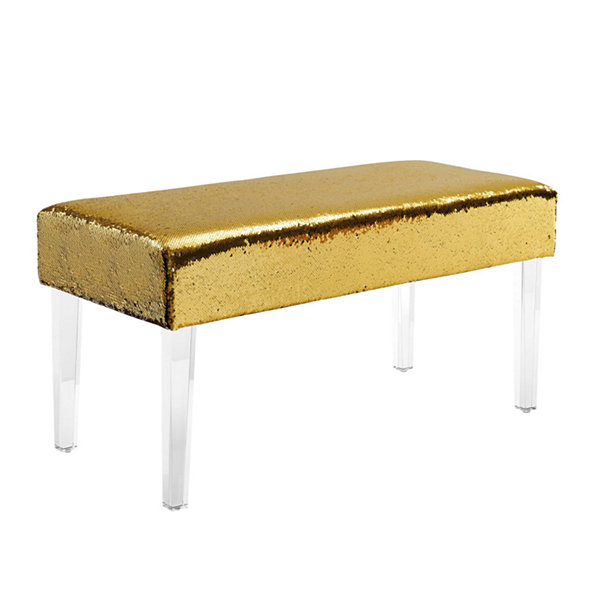 Tonya Mermaid Sequin Acrylic Leg Bench
