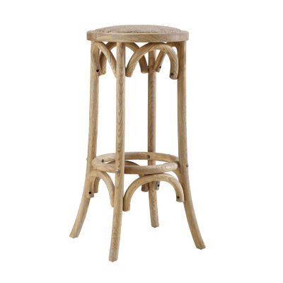 Rae Rattan Seat Backless Bar Stool