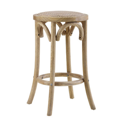 Rae Rattan Seat Backless Counter Stool
