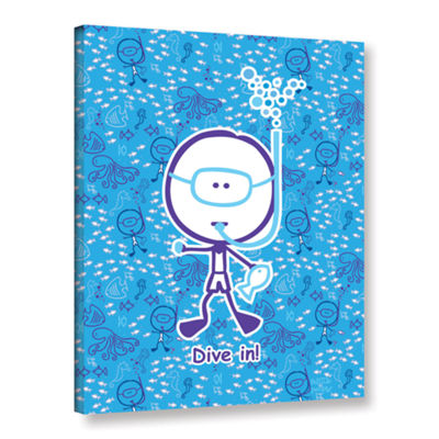 Brushstone Dive In Boy Gallery Wrapped Canvas WallArt