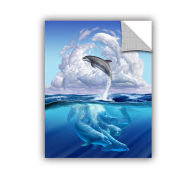 Brushstone Dolphonic Symp Removable Wall Decal