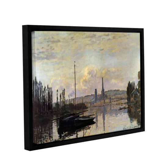 Brushstone Dock Gallery Wrapped Floater-Framed Canvas Wall Art