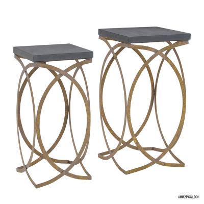 Set Of 2 Faux Concrete Nesting Tables