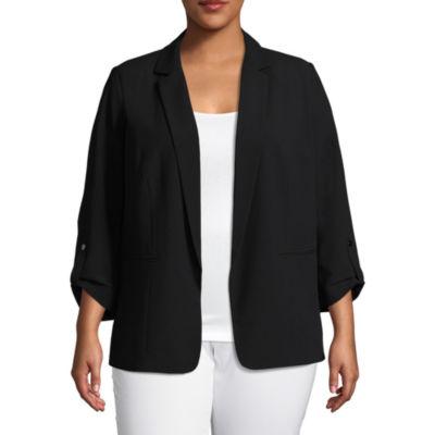 Worthington Roll Tab Sleeve Suit Jacket - Plus