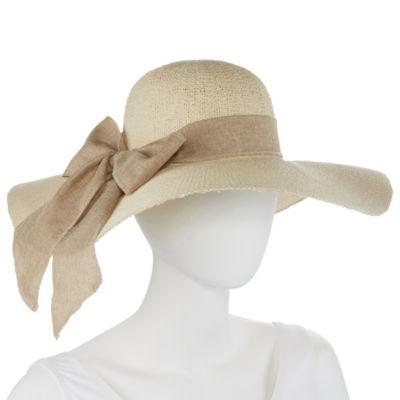 Scala Linen Bow Floppy Hat