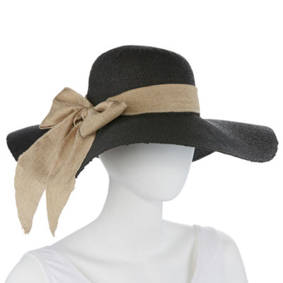 Scala Linen Bow Floppy Hat