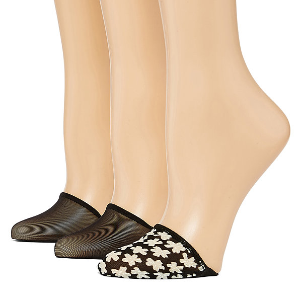 Libby Edelman 3 Pair Pattern Toe Cover - Womens