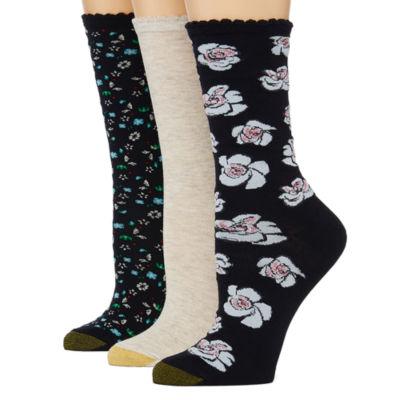 Gold Toe 3 Pair Crew Socks - Womens