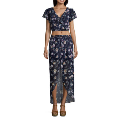 by&by Short Sleeve Dress Set-Juniors