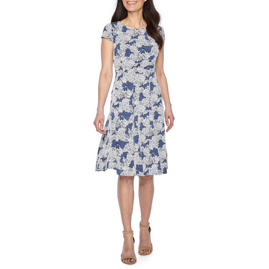 Studio 1 Short Sleeve Sundress-Petites
