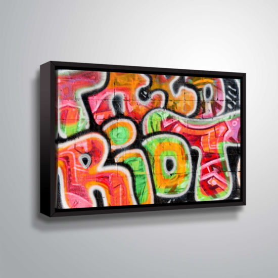 Brushstone Graf 28 Gallery Wrapped Floater-FramedCanvas