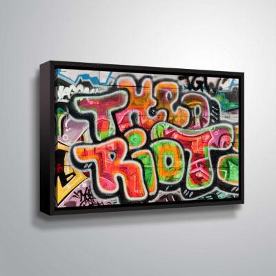 Brushstone Graf 37 Gallery Wrapped Floater-FramedCanvas