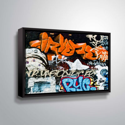 Brushstone Graff 1 Gallery Wrapped Floater-FramedCanvas