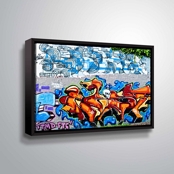 Brushstone Graf 10 !! Gallery Wrapped Floater-Framed Canvas