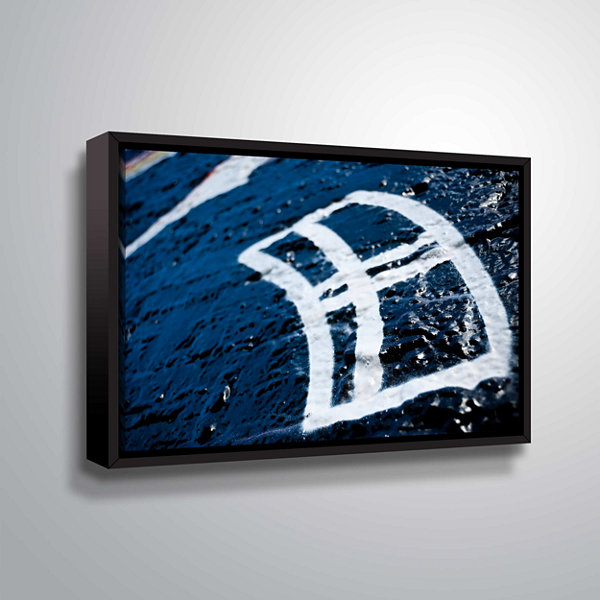 Brushstone Graf 1 Gallery Wrapped Floater-Framed Canvas