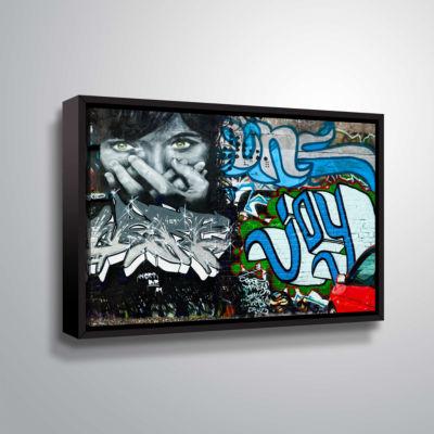 Brushstone Graf 4 (2) Gallery Wrapped Floater-Framed Canvas