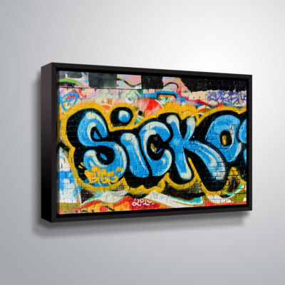Brushstone Graf 9 Gallery Wrapped Floater-Framed Canvas