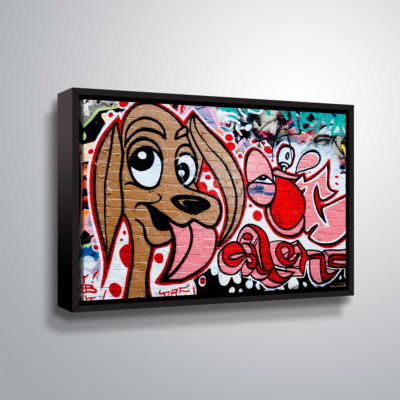 Brushstone Graff Dog2 Gallery Wrapped Floater-Framed Canvas Wall Art