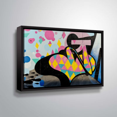 Brushstone Graff2 Gallery Wrapped Floater-Framed Canvas Wall Art