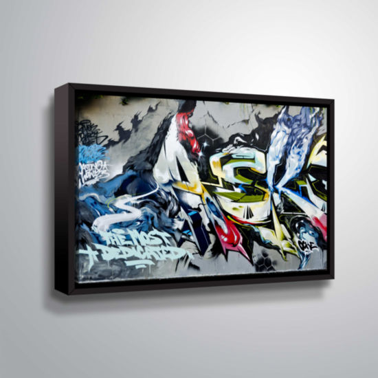 Brushstone Graff9 Gallery Wrapped Floater-Framed Canvas Wall Art