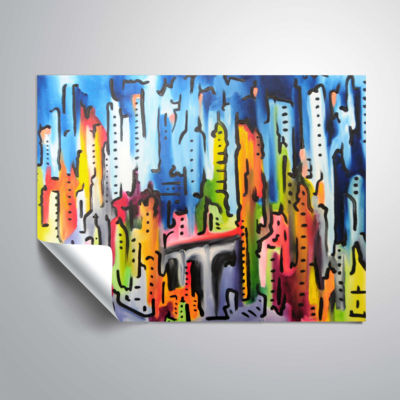 Brushstone Raging City Removable Wall Decal