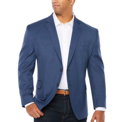 Stafford Year Round Stretch Classic Fit Gingham Sport Coat Big and Tall