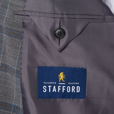 Stafford Year Round Stretch Classic Fit Grid Sport Coat  Big and Tall