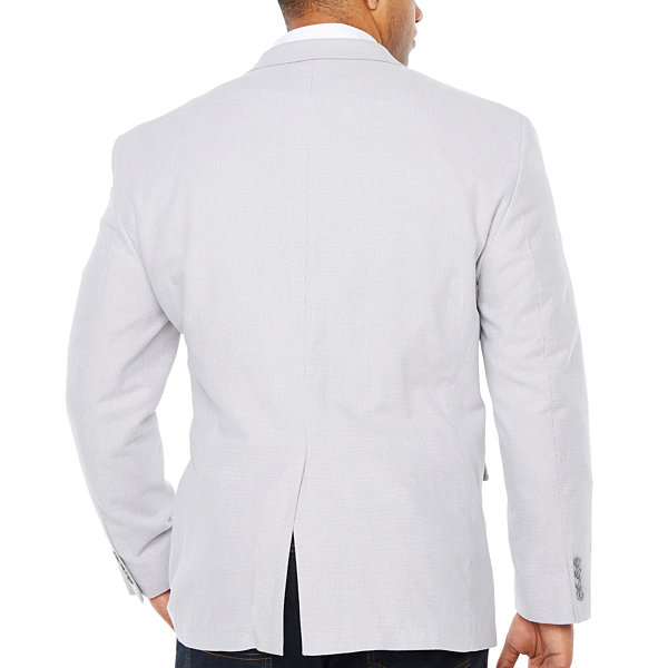 Stafford Classic Fit Basketweave Sport Coat - Big and Tall
