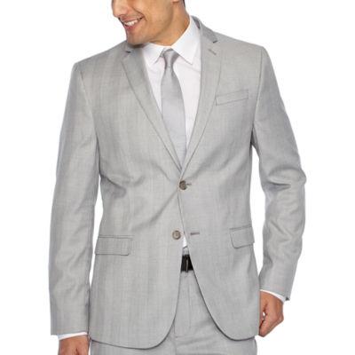 JF J.Ferrar Plaid Super Slim Fit Suit Jacket
