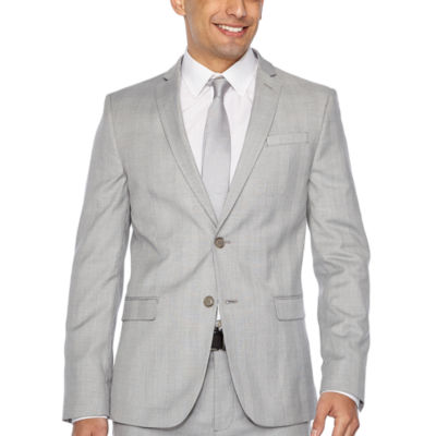JF J.Ferrar Plaid Slim Fit Suit Jacket