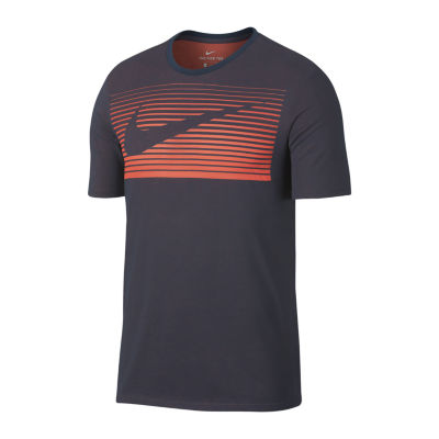 Nike Swoosh  Burn Short Sleeve Crew Neck T-Shirt