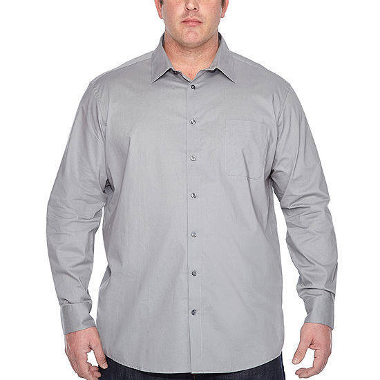 0379f6186f23d Claiborne Mens Long Sleeve Button-Front Shirt Big and Tall - JCPenney