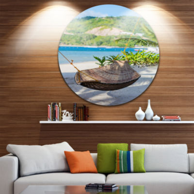 Design Art Philippines Tropical Paradise LandscapePhoto Circle Metal Wall Art