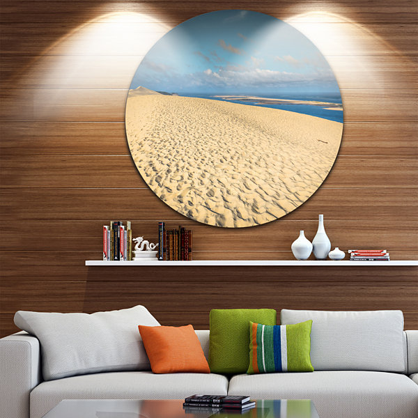 Design Art Dune of Pyla Landscape Photography Circle Metal Wall Art ...