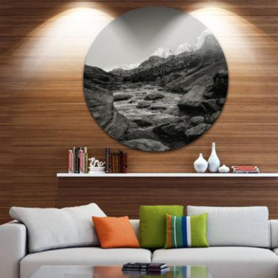 Design Art Dark Rapid Virgin River Landscape Photography Circle Metal Wall Art