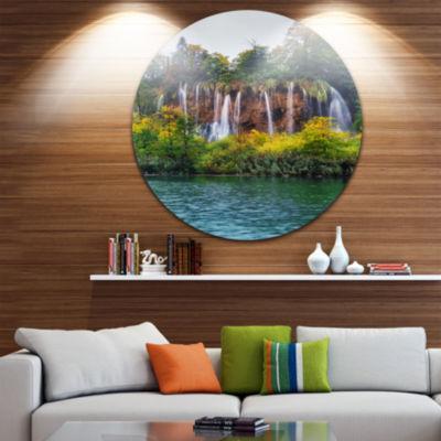 Design Art Plitvice Lakes Croatia Landscape PhotoCircle Metal Wall Art