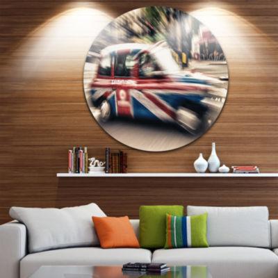 Design Art UK Cab in London Circle Metal Wall Art