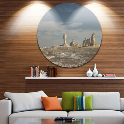 Design Art Desert of Egypt Landscape Photography Circle Metal Wall Art