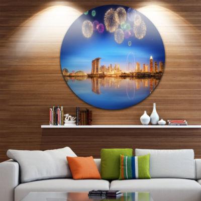Design Art Singapore Skyline Cityscape PhotographyCircle Metal Wall Art