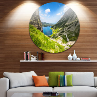 Design Art Black Pond Gasienicowy Landscape PhotoCircle Metal Wall Art